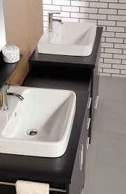 design element washington double drop in vessel sink vanity set