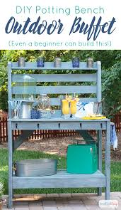 diy potting bench u0026 outdoor buffet table atta says