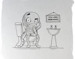 octopus drawing etsy