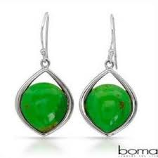 boma earrings green turquoise large silver earrings gift and accessories