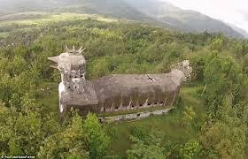 chicken church u0027 built indonesian jungle man u0027a