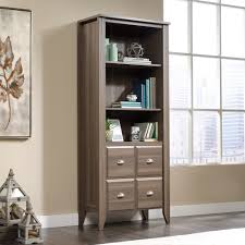 Oak Bookcases With Doors by Shoal Creek Library With Doors 420796 Sauder