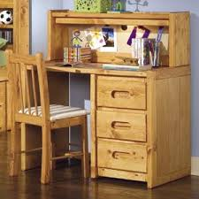 single pedestal student desk with corral hutch by trendwood wolf