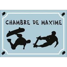 plaque de chambre plaque de chambre pour ado thème skate personnalisable avec le prénom