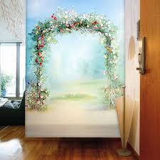 Aliexpresscom  Buy Flowers Door Photo Wallpaper Romantic - Girls bedroom wall murals