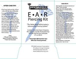 inverness earrings inverness ear piercing kit liquid invernersscorp