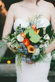 lotus pod and thistle bouquet