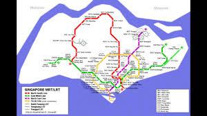 Singapore Map World by Singapore Public Transport Mrt Map Of Singapore Youtube