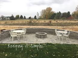 Firepit Pavers How To Build A Diy Pit For Only 60 Keeping It Simple Crafts