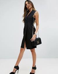 asos asos sleeveless tux dress