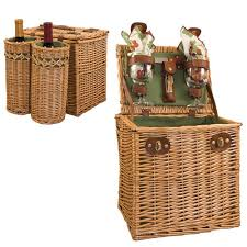 wine picnic basket picnic basket vino wine cheese service for two willow 122