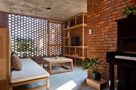 amazing apartment design using brick wall decor that can create a