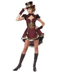 party city teenage halloween costumes costume for teen girls steampunk halloween costume girls