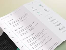 Best Font For Resume 2014 by 2014 Cv Resume Trifold By S1m Dribbble