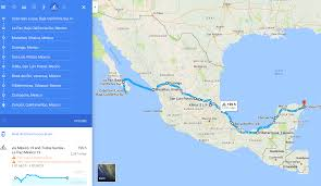 Chihuahua Mexico Map by Cycling Across Mexico Expected Route U2013 Points On A Map