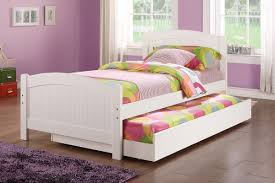 cheap twin beds for girls amazon com twin bed w trundle in white color pine wood by poundex