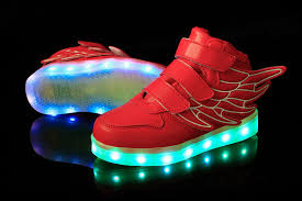 sneakers that light up on the bottom bright wings led shoes kids red remote