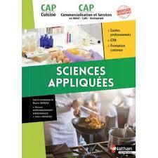 livre cap cuisine sciences appliquées cap cuisine cap commercialisation et