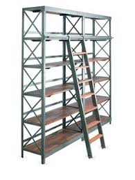 Metal Book Shelves by Giant Industrial Shelving Unit With Ladder Furniture Pinterest