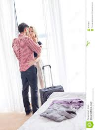 romantic young couple in hotel room stock photo image 41405920