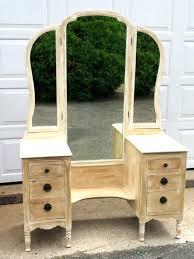 Vanity Table With Tri Fold Mirror Tri Fold Mirror For Vanity U2013 Amlvideo Com