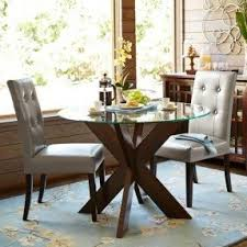 Glass Topped Dining Table And Chairs Glass Top Kitchen Table Sets Foter
