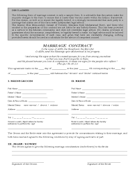 Medical Power Of Attorney Ontario by Marriage Contract Form 2 Free Templates In Pdf Word Excel Download
