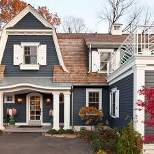 creative unique exterior paint colors with brown roof exterior