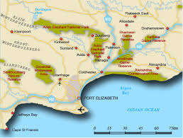 j bay south africa map map of greater addo greater addo map south africa