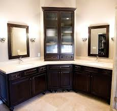 Corner Cabinet For Bathroom Best 25 Corner Bathroom Vanity Ideas On Pinterest His And Hers
