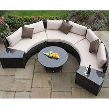 Wicker Patio Furniture San Diego by San Diego Rattan Garden Furniture Brown Half Moon Sofa Set