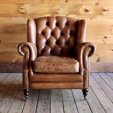 Leather Wingback Chair Adirondack Furniture Stores Buffalo Leather Wing Chair