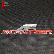 logo bmw 3d car styling 3d ac schnitzer logo red color decal sticker emblme