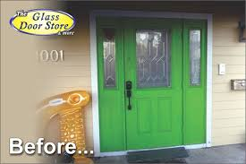 Hurricane Exterior Doors A Tropical Etched Glass Pattern For A House Front Door The
