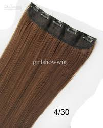 hair extension clips straight hair extension clip in on synthetic hair weft with 5 clips