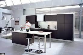 cuisine avec ilot central et table impressionnant modele de cuisine moderne avec ilot avec ilot central