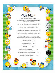 simple menu template free kid menu templates templates franklinfire co