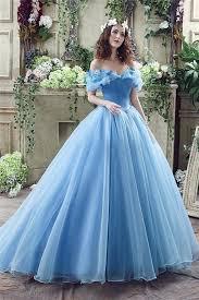 fairy tale wedding dresses tale gown the shoulder blue organza corset wedding dress