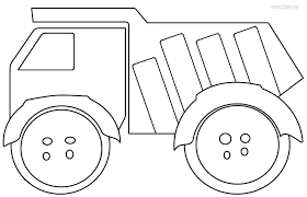 free printable dump truck coloring pages for kids 21402