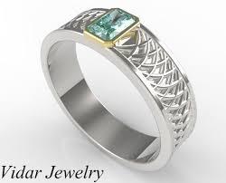 comfort fit ring men s radiant cut aquamarine ring vidar jewelry unique custom