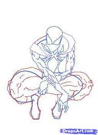 draw iron spider man step step marvel characters