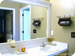 Bathroom Mirror Frames Kits Picture Frame Around Bathroom Mirror How To Frame A Bathroom