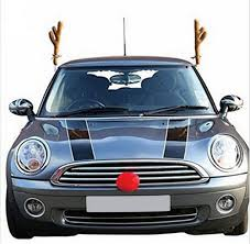 reindeer antlers for car christmas reindeer antlers car costume antlers nose set auto