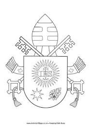 coat arms pope francis catholic coloring kids