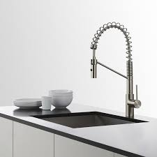 stainless steel faucets kitchen kraus kpf 2630ss modern oletto single lever commercial style