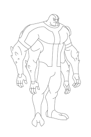 ben 10 arms stands tall proud coloring free