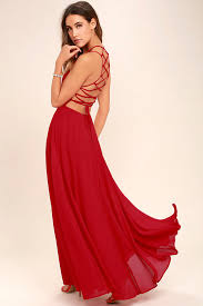 chic red dress lace up dress backless dress maxi dress 56 00