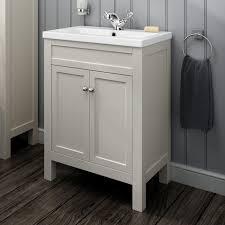 traditional bathroom vanity sink floorstanding smooth ivory