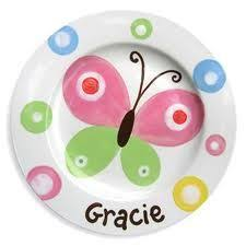 painted platters personalized custom name personalized painted ceramic wedding plate or