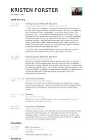undergraduate resume template undergraduate research assistant resume sles visualcv resume
